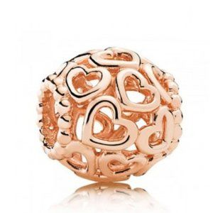 PANDORA Rose GOLD Plated Openwork LOVE Charm